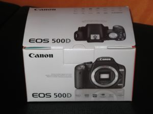 packaging canon eos 500d