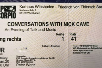 Ticket Nick Cave